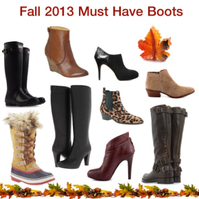 Friday Fashion – Fall 2013 Must HaveBoots