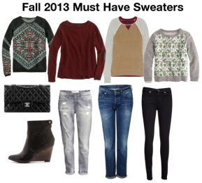 Fall 2013 Must Have Sweaters