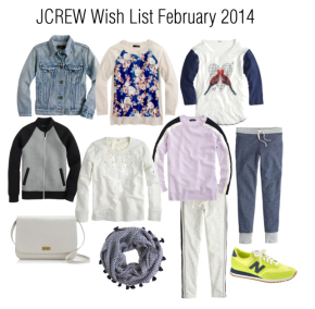 JCREW Wish List February 2014