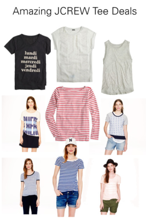 Amazing JCREW Tee Deals