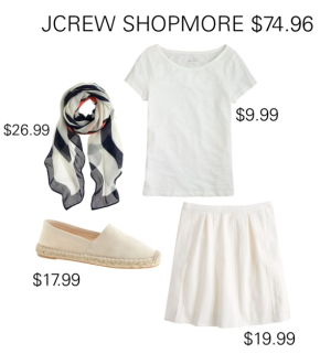JCREW SHOPMORE $74.96