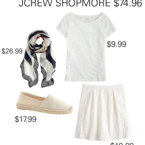 JCREW SHOPMORE $74.96