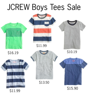 JCREW Crewcuts Boys Tees Sale
